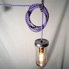 purple twisted cord mason jar lamp edison bulb lamps