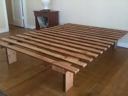 simple platform bed frame plans platform king size bed frame plan