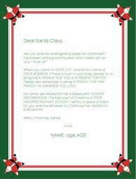 santa claus letters printable dear santa claus letter template