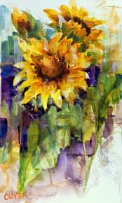 how to draw and paint a sunflower by mr otter art studio this
