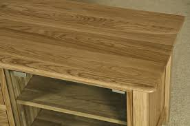 Oak Tv Cabinets With Glass Doors Buy Tuscany Oak Tv Unit Large With Glass Door Cfs Uk