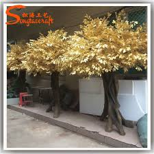 wedding wishing trees for sale large gold leaf and tree roots made of artificial gold tree for