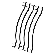 pegatha 32 1 4 in x 1 in black aluminum bow deck railing