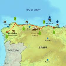 San Sebastian Spain Map by Bilbao Santiago Caminos Touring Holidays In Spain