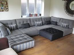 plush sectional sofas such a clever use of neutrals on this enormous sectional sofa set