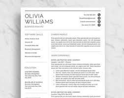 It Professional Resume Templates In Word Resume Template Etsy