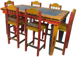 Mexican Dining Room Furniture Mexican Painted Furniture Furniture Dining Room Furniture