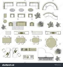 Living Room Floor Planner Set Top View Interior Icon Design Stock Vector 608293973