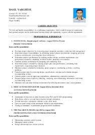 Instrumentation Project Engineer Resume Basil Varghese Project Engineer Resume