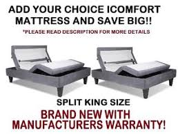 serta icomfort split king size motion custom ii adjustable bed