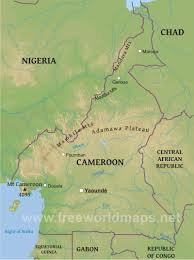 Map Of Central Africa by Cameroon Physical Map