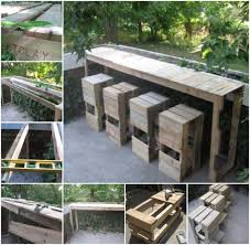 Outdoor Bar Table And Stools 50 Wonderful Pallet Furniture Ideas And Tutorials