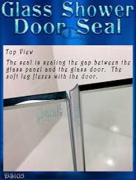 Sealing A Shower Door Ds105 Frameless Glass Shower Door Seal Wipe Sweep