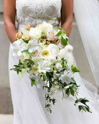 theme wedding bouquets inspiring chic cascading wedding bouquets martha stewart picture