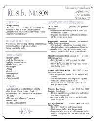 Resume Samples Leadership Skills by Resume Template For Video Production