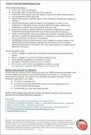Hr Generalist Sample Resume by Child Safety Momentum Dance Studios Pty Ltd