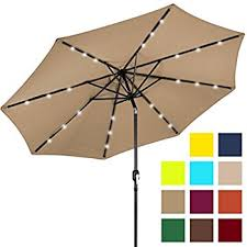 Lighted Patio Umbrella Solar Best Choice Products 10ft Solar Led Lighted Patio