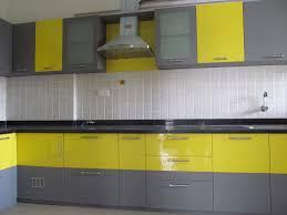 yellow and grey kitchen ideas modern kitchen n modular kitchen designs l shaped source sulekha