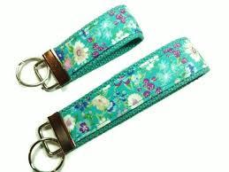 fabric key fob keychain fabric key fob wristlet floral print fabric key