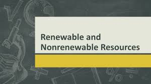 ppt on conservation of nonrenewable resources