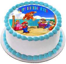 mario cake topper mario party edible birthday cake or cupcake topper edible prints