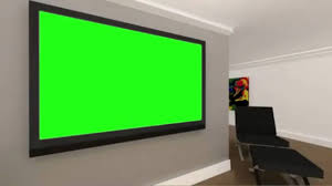 free hd green screen background virtual room with green screen tv