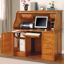 Oak Computer Desk With Hutch Oak Computer Desk With Hutch And Filling Cabinet Storage Also Cpu