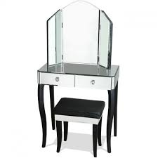 Mirrored Vanity With Drawers Small Mirrored Vanity Table 3801