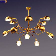Retro Hanging Light Fixtures Iwhd Spider Gold Retro Pendant Lights Fixtures 12 Heads Style Loft