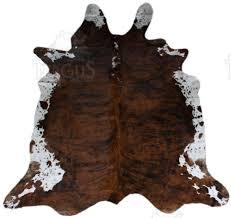 pouf en peau de vache peau de vache exotique en forme tergus