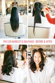 the lob haircut u0026 balayage everything you need to know