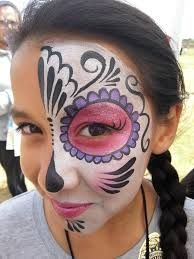 dia de los muertos articles for kids facepainting orange