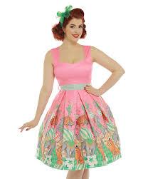 Mona by Mona U0027 Pink Circus Print Swing Dress