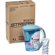 amazon com brita 10 cup stream filter as you pour water pitcher
