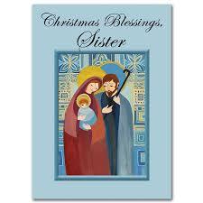 christmas blessings sister sister religious christmas card