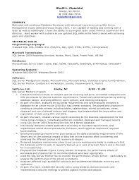 Sample Resume Server by Database Engineer Sample Resume 20 Template Blank Sql Developer