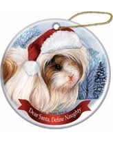 amazing deal on peruvian haired guinea pig ornament