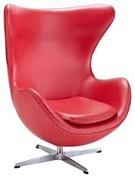 Swivel Accent Chairs by Modway Glove Leather Swivel Accent Chair Red Contemporary