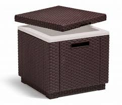 coffee table with cooler allibert ice cube stool with integrated cooler brown 209457 box