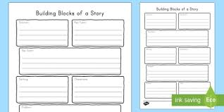 building blocks of a story graphic organizer writing template