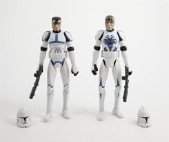 star wars unproduced figure set clone trooper havoc u0026 lieutenant