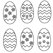 free easter egg printable medium sized plain eggs set of 6 free