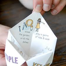 how to make a paper fortune teller skip to my lou