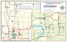 Columbus Ohio Map by Biking Columbus Cool Additions To Bike Shelters