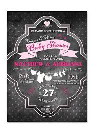 baby shower chalkboard shower invitations archives lot paperie