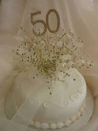 gold wedding cake toppers ivory gold 50th golden wedding cake topper ebay