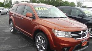 suv dodge 2014 dodge journey limited suv orange for sale dayton troy piqua