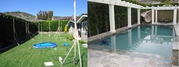 Backyard Pool With Slide - pool remodeling orange county dreamscapes by mgr