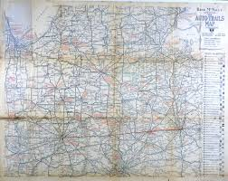 Illinois District Map by Ecc Rand Mcnally Official 1919 Auto Trails Map District Number