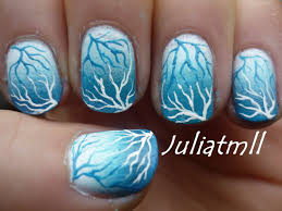 winter storm nail art tutorial youtube